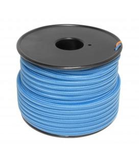 Câble textile - 1m - 2x0.75mm² - Bleu Nuit