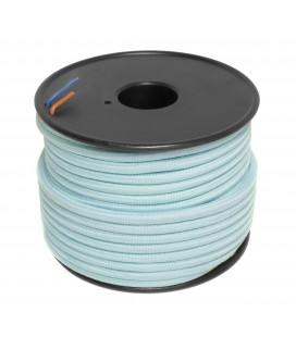 Câble textile - 1m - 2x0.75mm² - Bleu Ciel