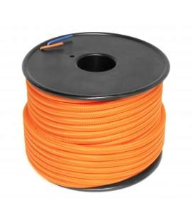 Câble textile - 1m - 2x0.75mm² - Orange
