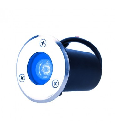 Spot Encastrable de sol LED - 1X1W - Bridgelux - 220V - Bleu