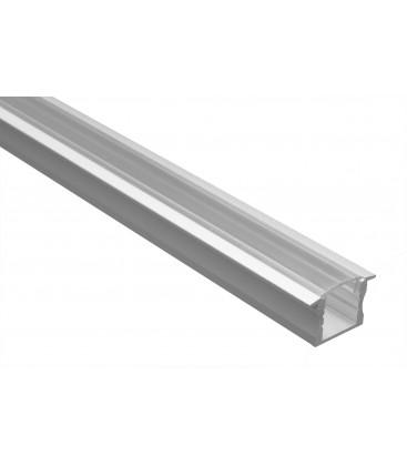 Profilé LED - Serie T15 - 1.5 Mètre - Diffuseur Transparent