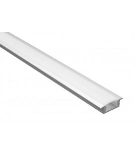 Profilé LED - Serie T07 - 1.5 Mètres - Diffuseur Opaque
