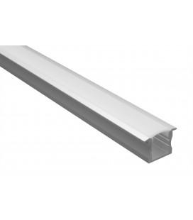 Profilé LED - Série T15 - 1,5 mètre - Diffuseur opaque