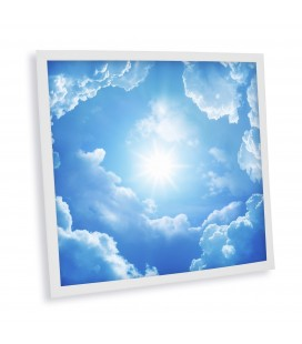 Dalle LED imprimée - Heaven - 600x600mm (Alimentation non fournie)