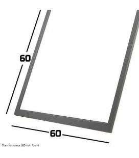 Dalle LED - 60x60cm - 75W - SMD Samsung cadre aluminium gris