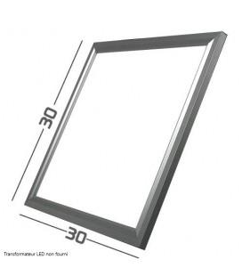 Pavé LED - 30x30cm - 20W - SMD Samsung cadre aluminium gris