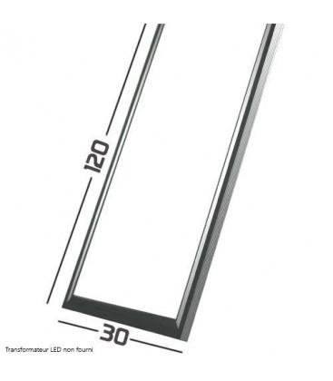 Panneau LED - 120x30cm - 75W - SMD Samsung cadre aluminium gris