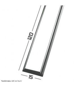 Panneau LED - SMD Samsung - 120x15 cm - 40W cadre aluminium gris