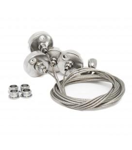 Kit câbles suspension Dalles LED DeliTech® - 4 pièces