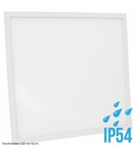 Dalle LED-Cadre Blanc-60x60cm-30W-IP54-Nova-DeliTech® (Alimentation non fournie)