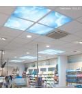 Pack de 4 dalles LED imprimées - Heaven - 600x600mm (Alimentations non fournies)