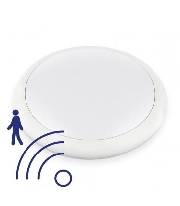 Hublot LED Rond IP65 avec détecteur - 18W - 320mm - NOVA by DeliTech® - Blanc Neutre