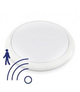 Hublot LED Rond 25W IP65 320mm Blanc Neutre avec détecteur - NOVA - DeliTech®