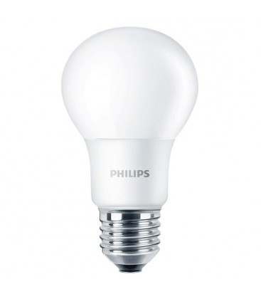 Ampoule LED E27 - PHILIPS - CorePro LED A60 5-40W Dépolie - Blanc Neutre 4000K