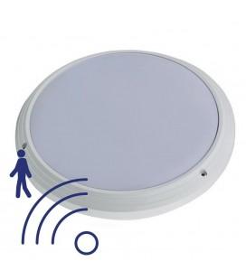 Hublot LED Rond IP65 avec détecteur - 18W - 330mm - 840 - Blanc Neutre
