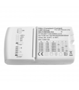 Driver LED CC dimmable DALI sans PushDim - variable de 5,5W@150mA à 10,5w@350mA 20-38V - BITON