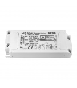 Driver LED CC - 350mA - 25-40VDC - 15W - ON/OFF (BTON/59CL13W/L1-350mA-18W)