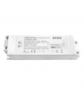 Driver LED CC - 800mA - 27-40VDC - 35W - Non dimmable