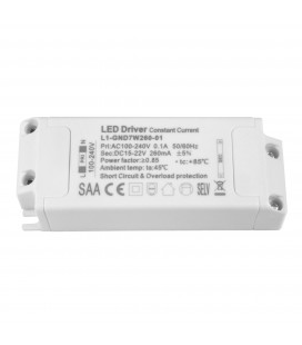 Driver LED CC - 260mA - 15-22VDC - 7W - ON/OFF (BTON/59CL7W/L1-GND7W260-01)