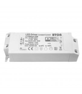 Driver LED CC - 500mA - 24-40VDC - 18W - Non dimmable