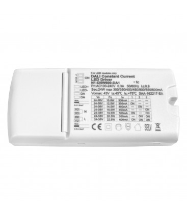 Alimentation dimmable DALI 25W - 600mA 24/38V