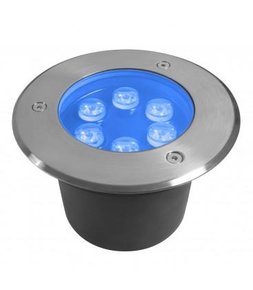 Spot Encastrable de sol LED - 6X1W - Bridgelux - 220V - Bleu