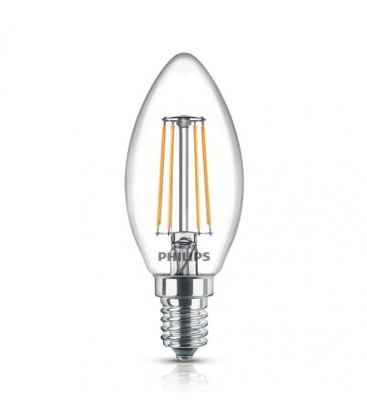 Ampoule LED E14 - Philips - Classic LED Candle 4.3-40W - Blanc Chaud