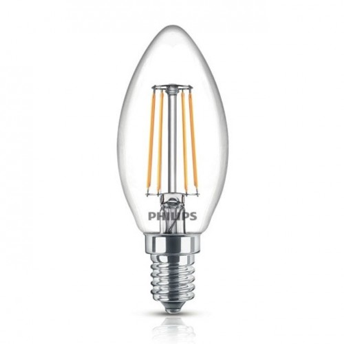 ampoule led e14 philips classic led candle 4 3 40w blanc chaud deliled. Black Bedroom Furniture Sets. Home Design Ideas