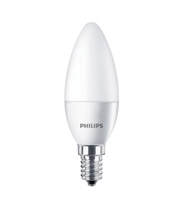 Ampoule LED E14 Philips - CorePro LED 5,5-40W Dépolie - Blanc Chaud