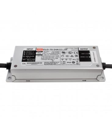 Alimentation LED Type A - 75W - 24V3.15A CC+CV IP65 Io Adj w/pot