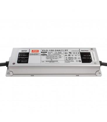 Alimentation LED Type A - 150W - 24V - 6.25A 150W CC+CV IP65 Io/Vo Adj W/Pot