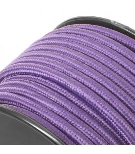 Câble électrique tissu - sur mesure - Violet - Tressé