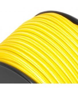 Câble suspension luminaire - sur mesure - Jaune - Tressé