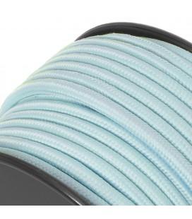 Fil électrique couleur - sur mesure - Bleu Ciel - Tressé
