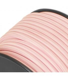 Fil électrique tissu - sur mesure - Rose