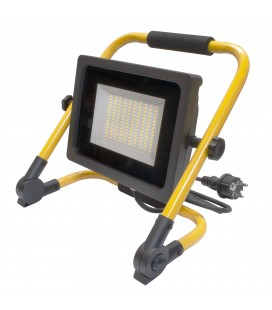 Projecteur LED de chantier avec 2 mètres de câble - 50W - IP65 - WAVE - Ecolife Lighting® - Blanc Pur