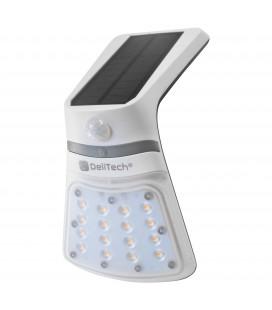 Applique Murale LED Solaire - 2W - IP65 - Avec détecteur de mouvement - DeliTech