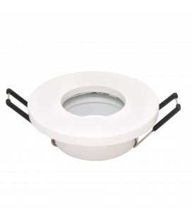 Support d'encastrement GU10 / MR16 Étanche IP65 - Rond - Blanc mat