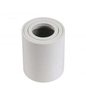 Support saillie GU10 / MR16 - Rond - Blanc mat
