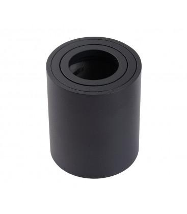 Support saillie GU10 / MR16 - Rond - Noir mat