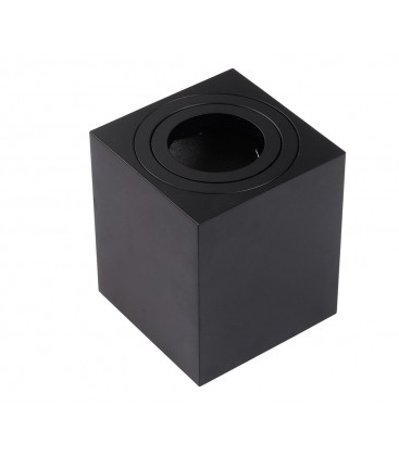 Support saillie GU10 / MR16 Orientable - Carré - Noir mat
