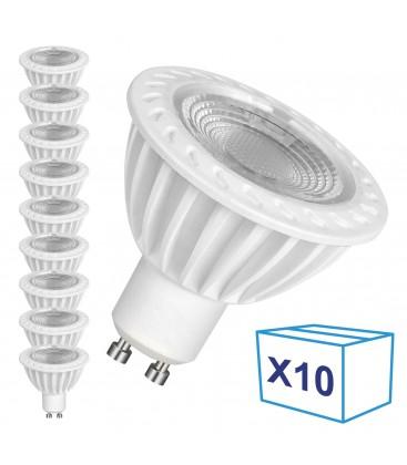 Pack de 10 Ampoules LED GU10 - 5W - Ecolife Ligthing® - Blanc Neutre
