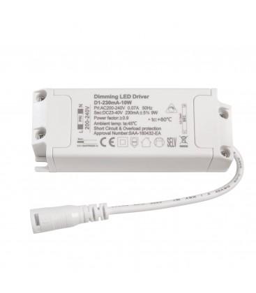 Alimentation LED dimmable pour encastrable - 10W - 230 mA+/-5%