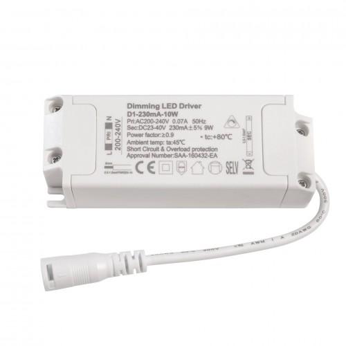 Driver LED CC TRIAC Dimmable 230mA 23-40VDC 10W