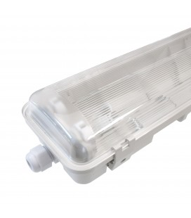 Réglette/Boitier étanche pour Tube T8 LED - Double- 1285mm - IP65 - 120° - NOVA - DeliTech®