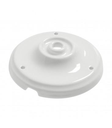 Pavillon en céramique Blanc - Suspension câble textile