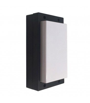 Applique Murale Extérieure 10W - IP54 - Triple couleur de Blanc - Noir