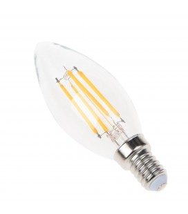 Ampoule filament LED Transparent - E14 - BA35 - 4 W - SMD Epistar - Ecolife Lighting®