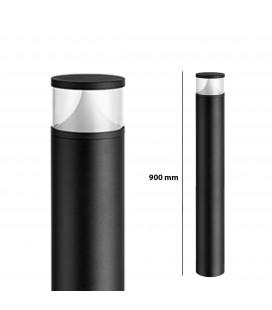 Pilier LED Extérieur Rond Transparent - 12 W - IP 65 - 900 mm - DeliTech®
