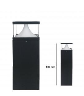 Pilier LED Extérieur Carré Transparent - 12 W - IP 65 - 600 mm - DeliTech®